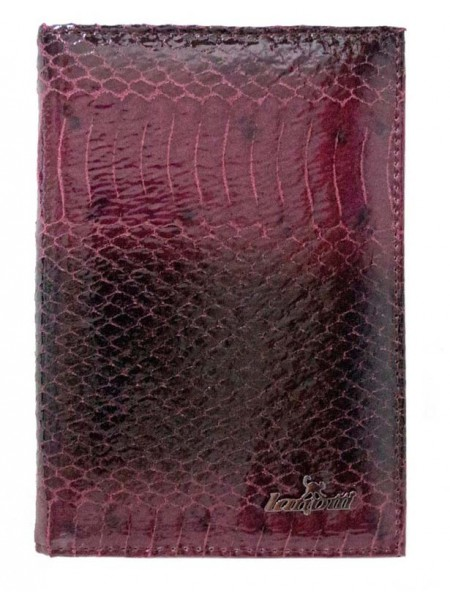Обложка на паспорт Lanotti 6391F/Бордовая рептилия