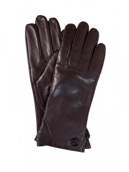 Перчатки женские Lanotti PKLW2019/Темно-Коричневые