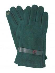 Перчатки женские зеленые HNW190857