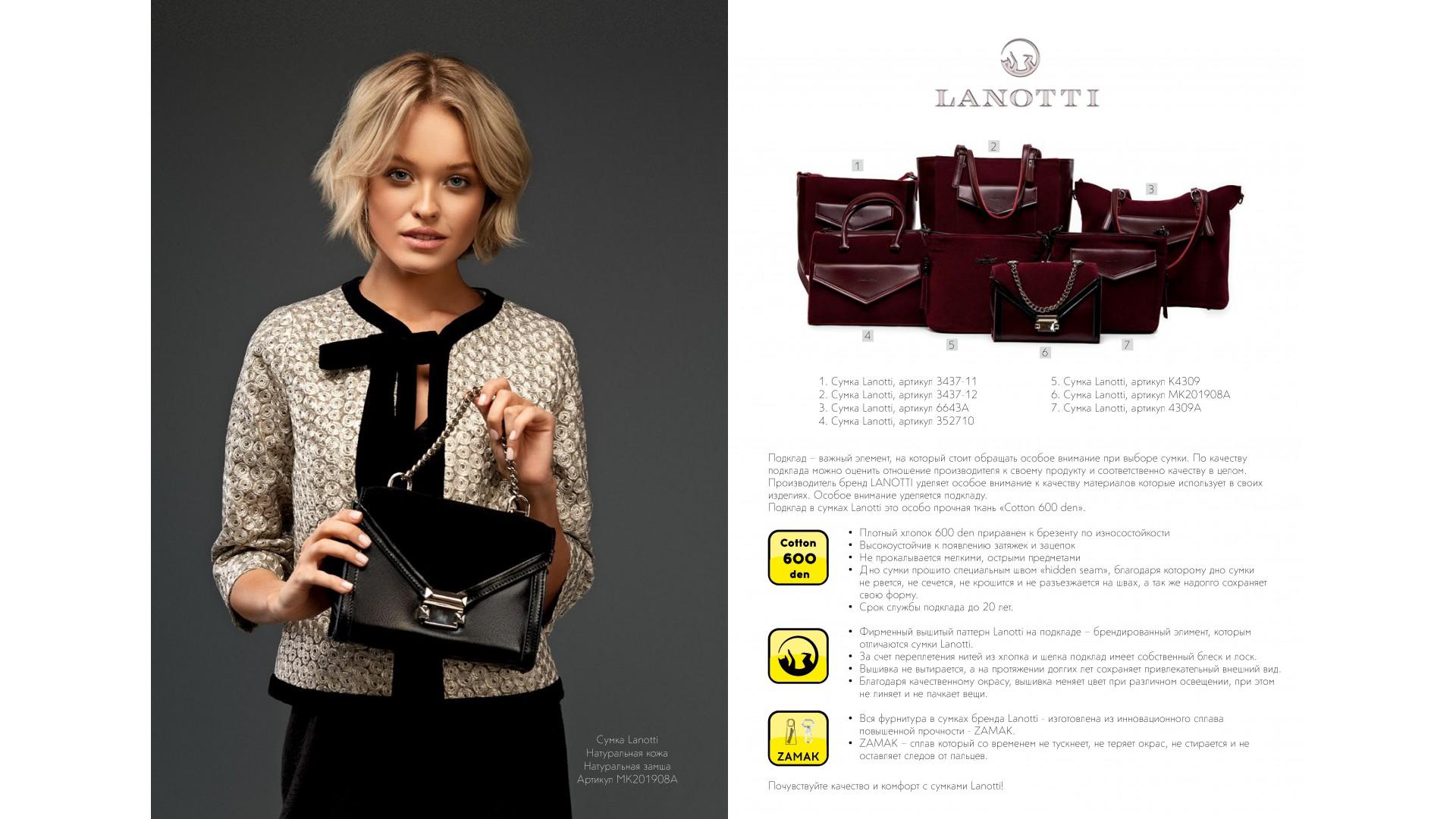 Коллекция Lanotti 2020