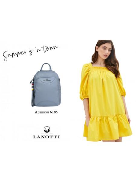 Образ Lanotti рюкзак женский Lanotti 6185/Голубой