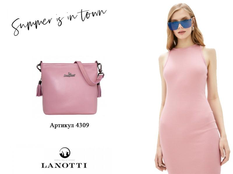 Образ Lanotti сумка женская Lanotti 4309/Розовый